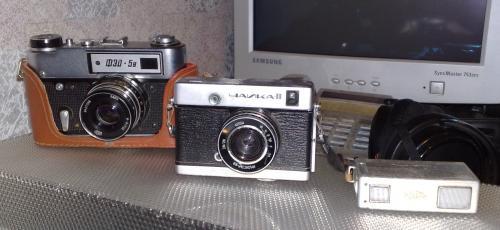 Три советских фотоаппарата