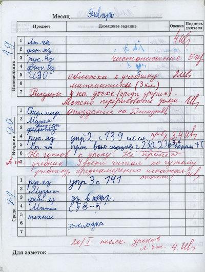 школьный дневник ссср